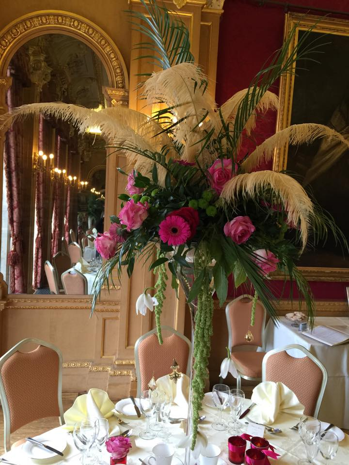 Hylands House Red and Pink Gatsby themed events
