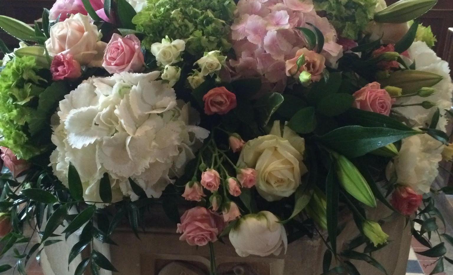RIP church font funeral flowers Essex