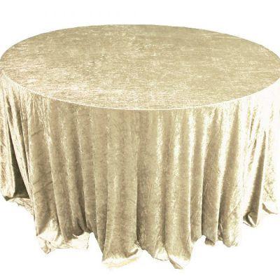 pale gold white Velvet Table Linen