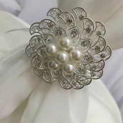 Pearl and Peacock buckle