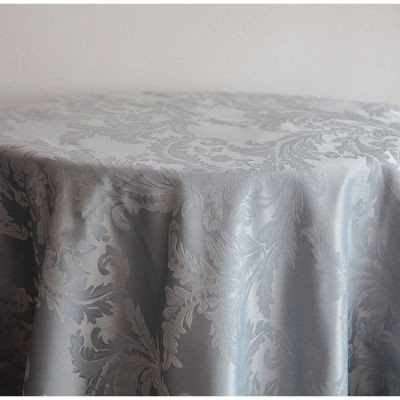 Grey Luxury Damask Table Cloth