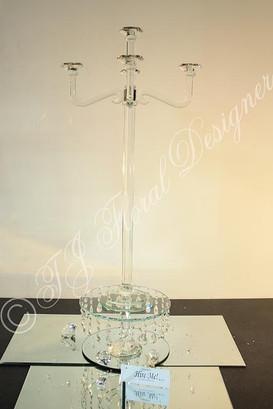 Glass Candelabra Hire