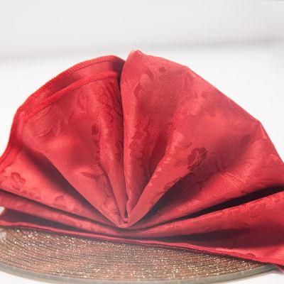 red napkin white Luxury Damask Table Linen