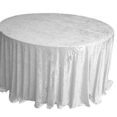 white Velvet Table Linen