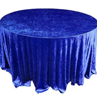 Royal Blue Velvet Table Linen
