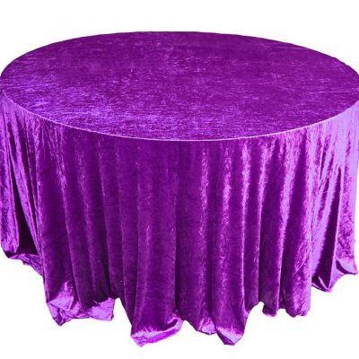Purple Velvet Table Linen
