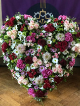RIP Giant Heart Funeral Flowers