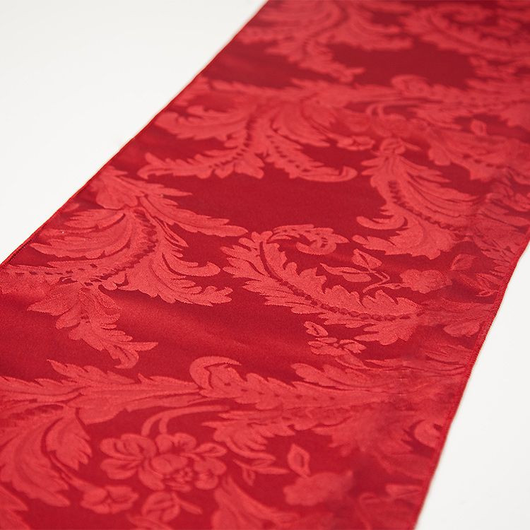 Red Damask Runner Table Cloth