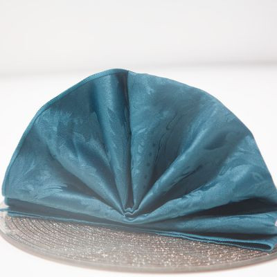 petrol blue napkin Luxury Damask Table Linen