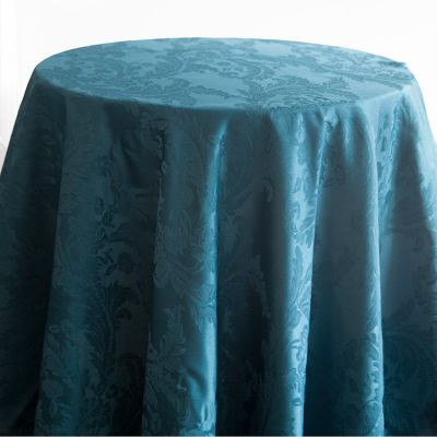 Petrol Blue Luxury Damask Table Cloth