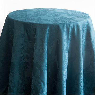 Petrol Blue Luxury Damask Table Cloth