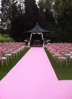 pink aisle carpets