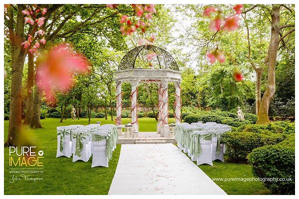Blossom Silks Wedding Ceremony at Creeksea Manor House