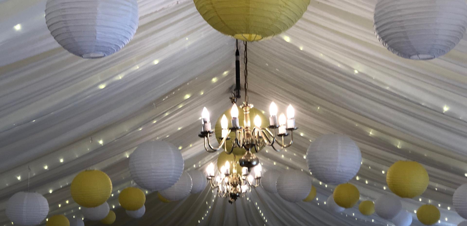 Lemon paper lanterns