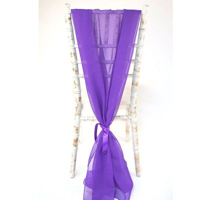 Purple Vertical Chiffon 407
