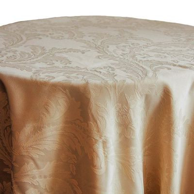gold Luxury Damask Table Cloth