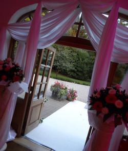Entrance wedding swagging