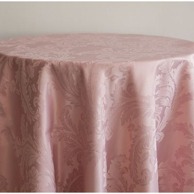 blush pink Luxury Damask Table Cloth