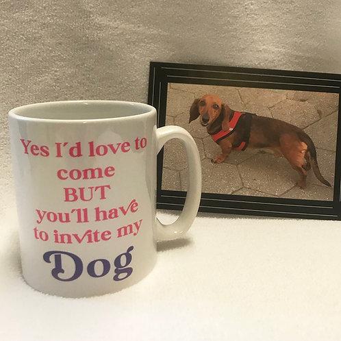 China mug with slogan for Dog lovers