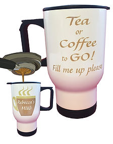 Personalised Re-fillable Travel Mug