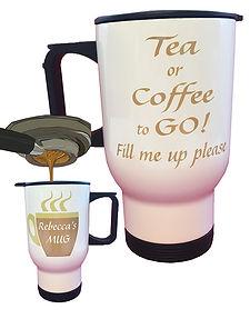 Personalised Re-fillable Travel Mug