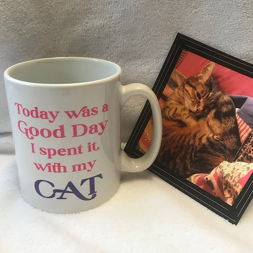 China Mug with slogan for Cat lovers