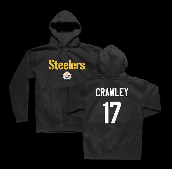 """YOUR """"PLAYER"""" STEELERS LOGO HOODIE"""