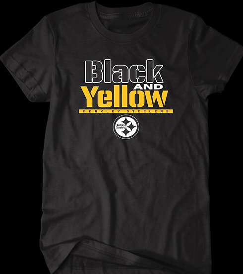 BLACK AND YELLOW TEE