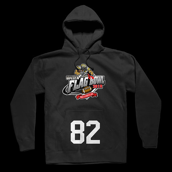 """YOUR PLAYERS 'NUMBER"""" OMYFA FLAG BOWL HOODIE"""