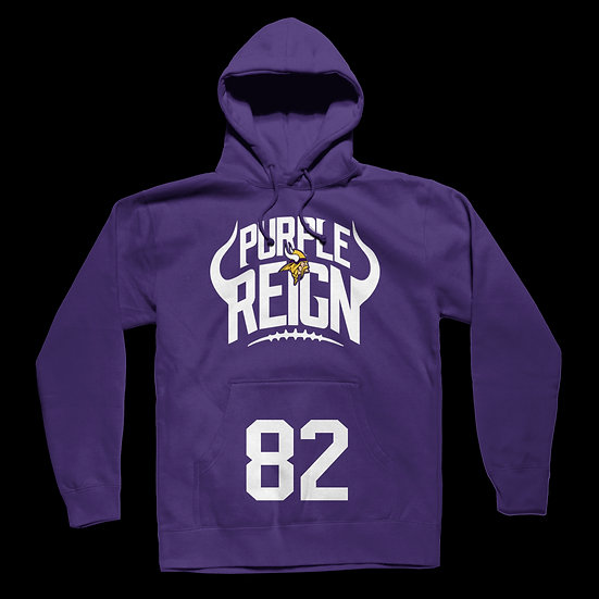 "PURPLE REIGN HOODIE w/ ""YOUR PLAYER NUMBER"" Pouch"