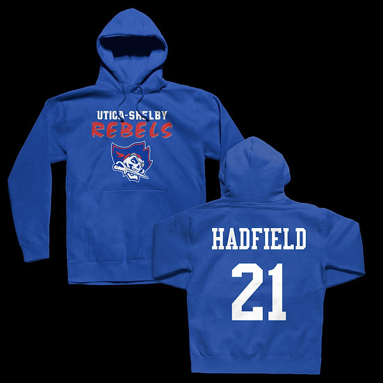 """REBELS CLASSIC LOGO """"YOUR PLAYER"""" HOODIE"""