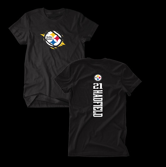 """SLASHED STEELERS """"YOUR PLAYER"""" TEE"""