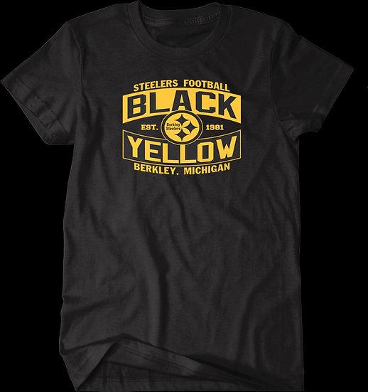 BLACK AND YELLOW TEE