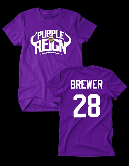 """PURPLE REIGN """"YOUR PLAYER"""" TEE"""