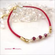 【ガーネット】プチ天然石のカラーブレスレット