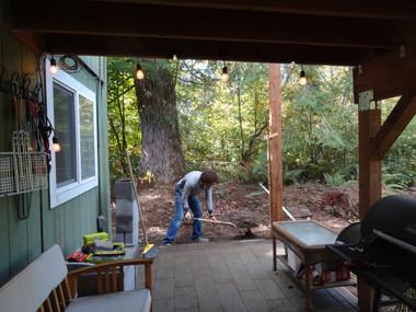 Constructing the breezeway, 2018