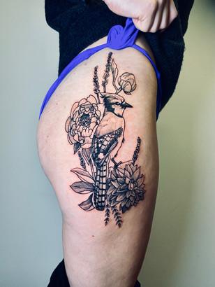 Quincy / Kwills - Blue Jay Ink Panthers Echt Tattooshop Limburg Tattoo