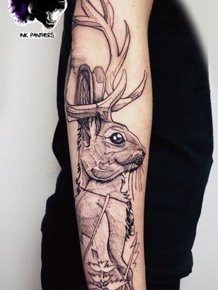 Quincy / Kwills - Jackelope Ink Panthers Echt Tattooshop Limburg Tattoo