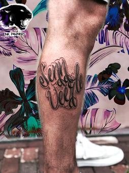 Rocky - script Ink Panthers Echt Tattooshop Limburg Tattoo