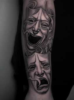 Rocky - Masks - Ink Panthers Echt Tattooshop Limburg Tattoo