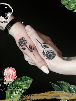 Rocky - Friendship roses Ink Panthers Echt Tattooshop Limburg Tattoo