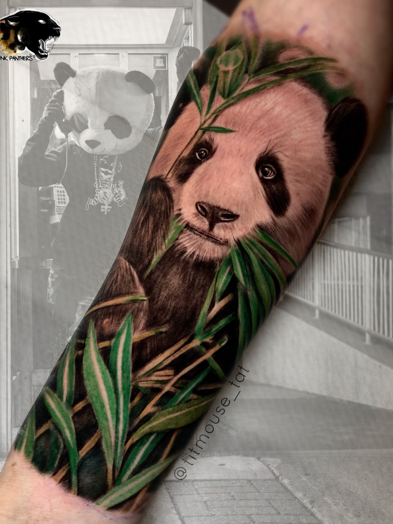 Jennifer / Titmouse - Panda - tattoo Ink Panthers Echt Tattooshop Limburg Tattoo