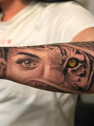 Ivan - tiger woman Ink Panthers Echt Tattooshop Limburg Tattoo