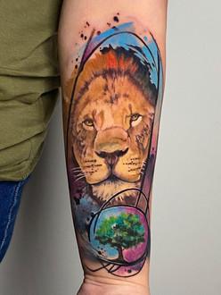 Daniele Cugliara - Trash polka - watercolor tattoo - kleur tattoo - color tattoo - Ink Panthers