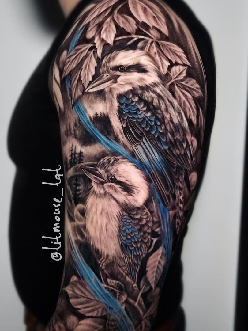 Jennifer / Titmouse - realisme - sleeve - Ink Panthers Echt Tattooshop Limburg Tattoo