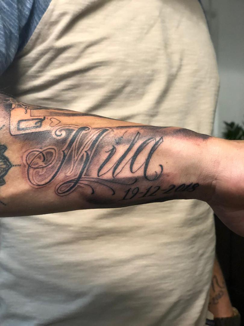 Ivan - script Ink Panthers Echt Tattooshop Limburg Tattoo