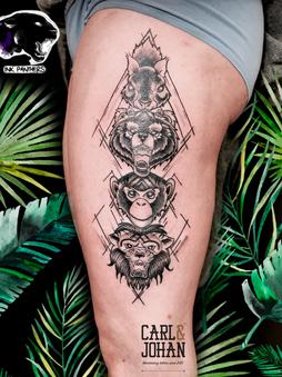 Rocky - Totem tattoo Ink Panthers Echt Tattooshop Limburg Tattoo