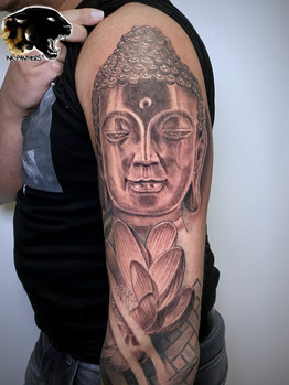 Ivan - chicano girl tattoo Ink Panthers Echt Tattooshop Limburg Tattoo