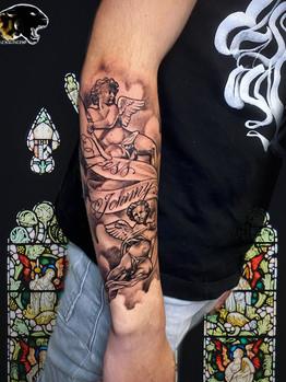 Ivan - angel tattoo Ink Panthers Echt Tattooshop Limburg Tattoo