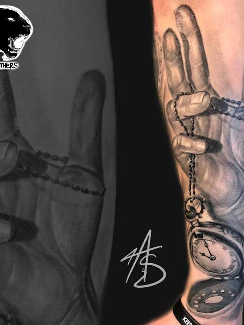 Artur Stec - clockwork Ink Panthers Echt Tattooshop Limburg Tattoo